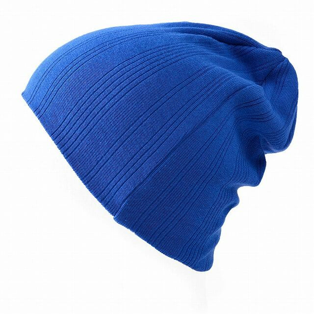 ブルーのCOOLMAX リブワッチ | ユニセックス 日本製 ニット帽 スポーツ