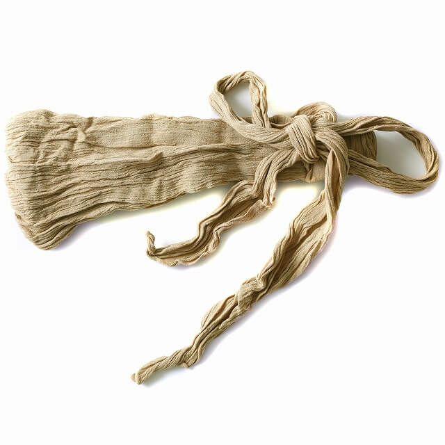 ベージュのレーヨン スカーフ ターバン ヘアバンド