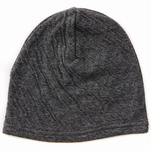 ダークグレーのベビー帽子 MIX オーガニックコットン ワッチ