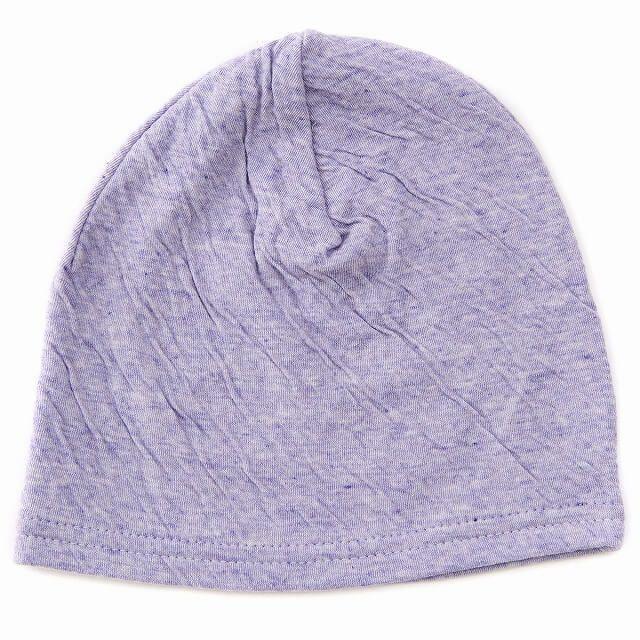 パープルのベビー帽子 MIX オーガニックコットン ワッチ