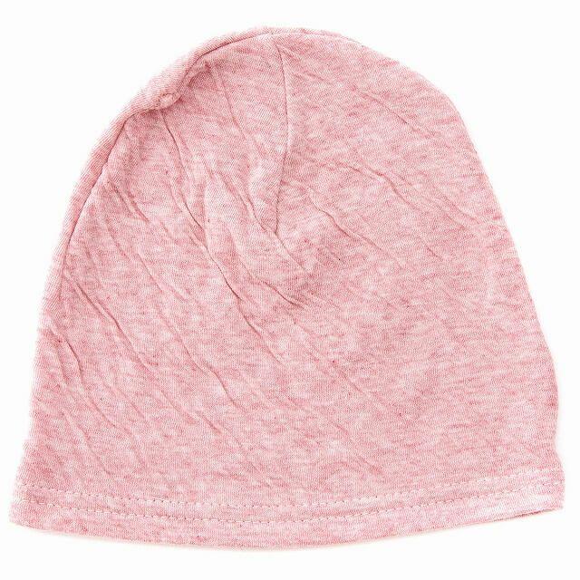 レッドのベビー帽子 MIX オーガニックコットン ワッチ