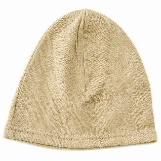 ベージュのベビー帽子 MIX オーガニックコットン ワッチ