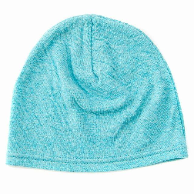ブルーのベビー帽子 MIX オーガニックコットン ワッチ