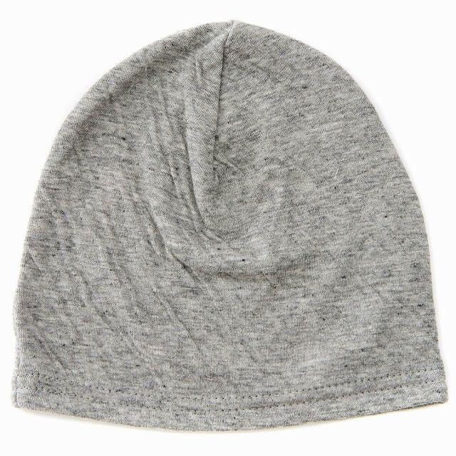ライトグレーのベビー帽子 MIX オーガニックコットン ワッチ