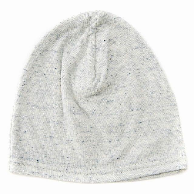 ミックスホワイトのベビー帽子 MIX オーガニックコットン ワッチ