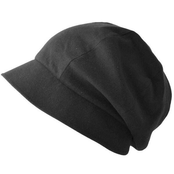 ブラック×ライトグレーのNOPO ソフト オーガニックコットン キャスケット