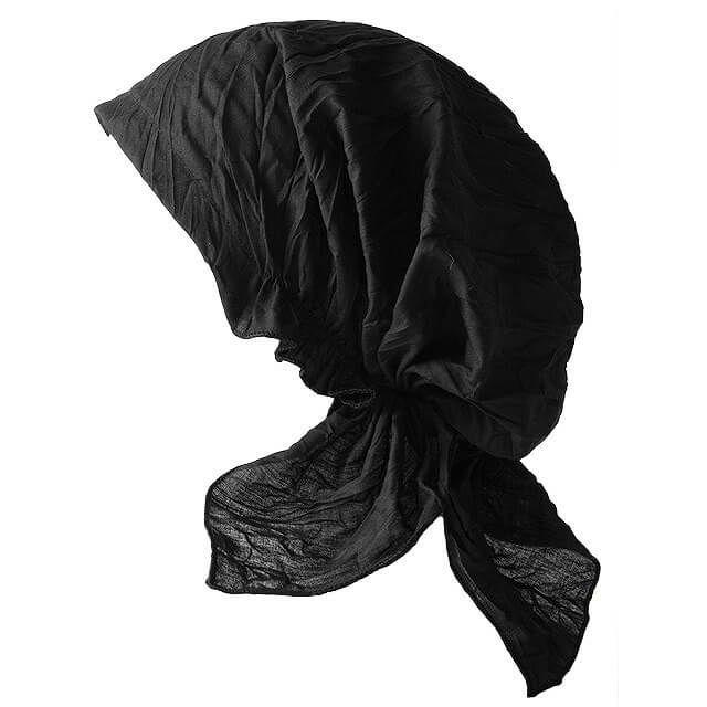 ブラックのNOINU コットン ターバンキャップ