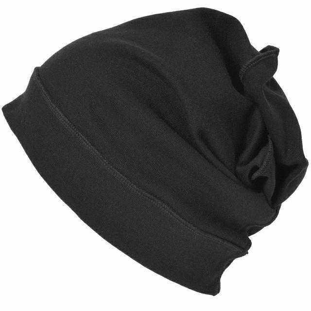 ブラックのソフト 天竺 オーガニックコットン デザイン ビックワッチ