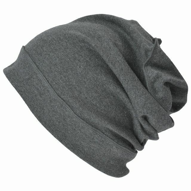 ダークグレーのソフト 天竺 オーガニックコットン デザイン ビックワッチ