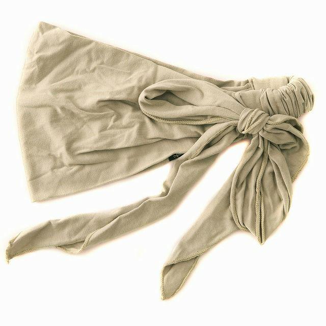 ベージュのビスコース スカーフ ターバン ヘアバンド