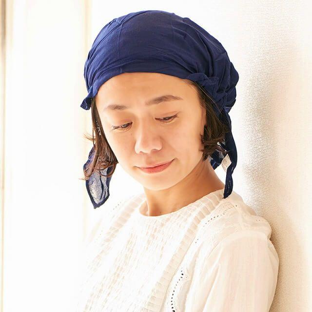 無地 nicora ニコラ レーヨン ターバンキャップ   ユニセックス 三角巾 ゴム 医療用 薄手