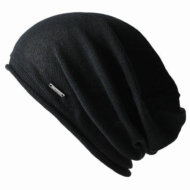 ブラックの無縫製 オーガニックコットン ストレッチ ビックワッチ