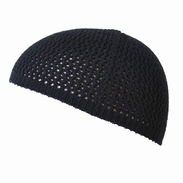 ブラックの無縫製 シルク ストレッチ イスラム ワッチ