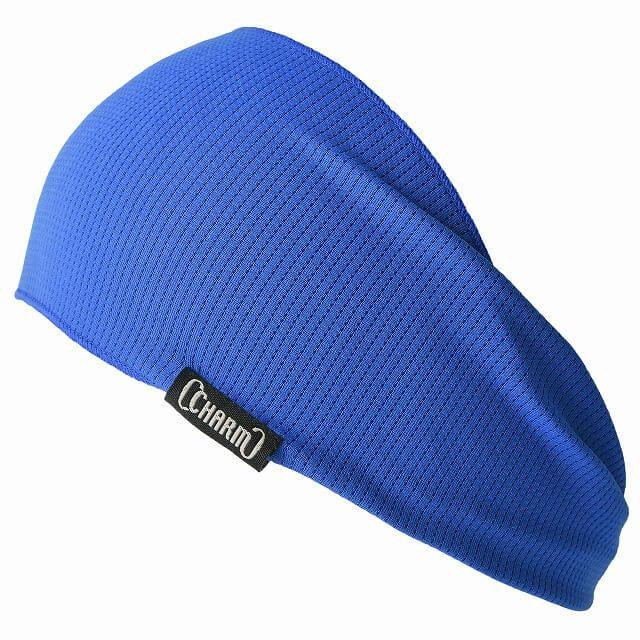 ブルーのスポーツ 吸汗 速乾 UVカット ターバン ヘアバンド