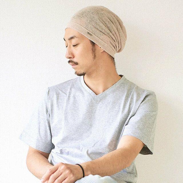 SAKA メッシュ ビッグワッチ。サマーニット帽、メンズ。
