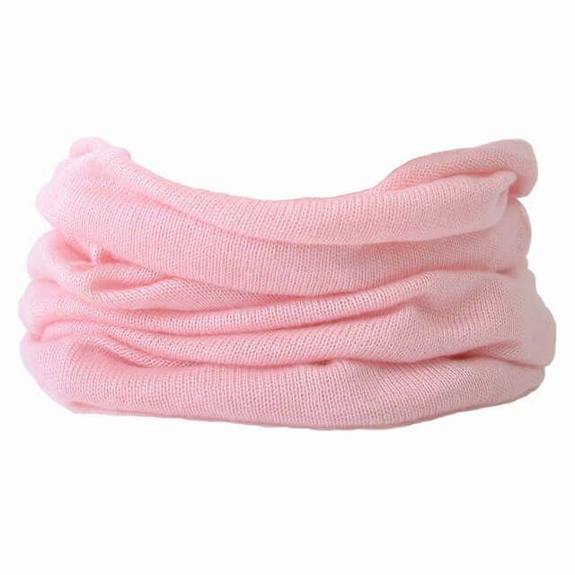 ピンクのシルク ふわふわ ネックウォーマー