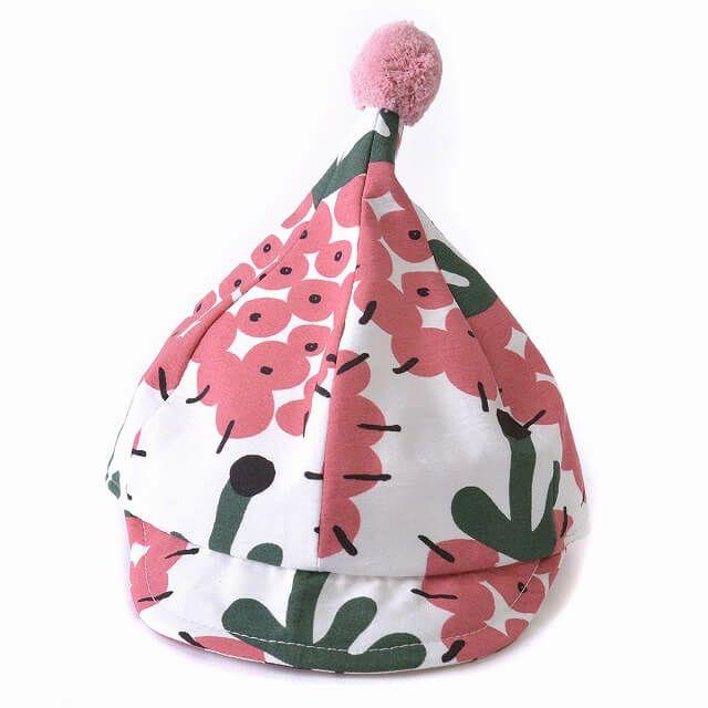 ピンクのベビー : パイン デザイン ポン キャップ