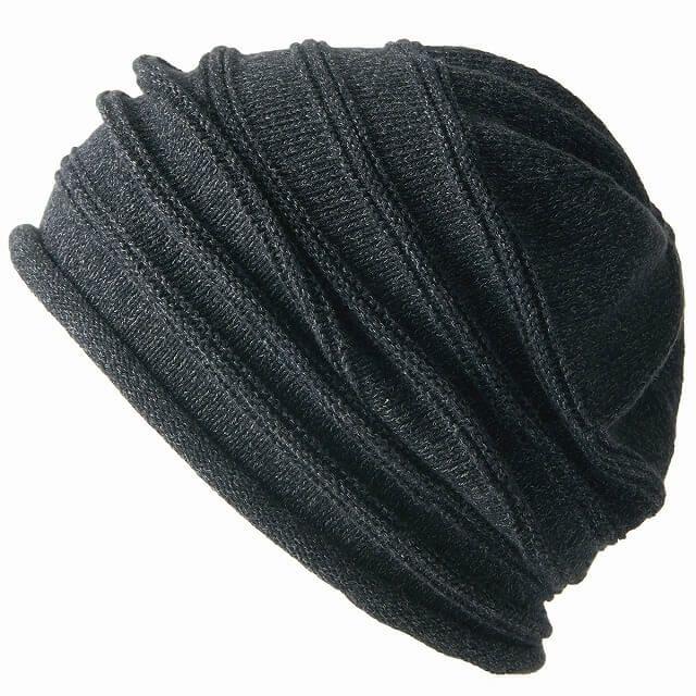 ブラックの綿 シルク シルエット ワッチ
