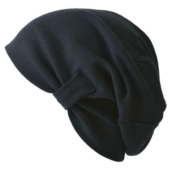 ブラックのシルエット 天竺 オーガニックコットン デザイン ビック ワッチ