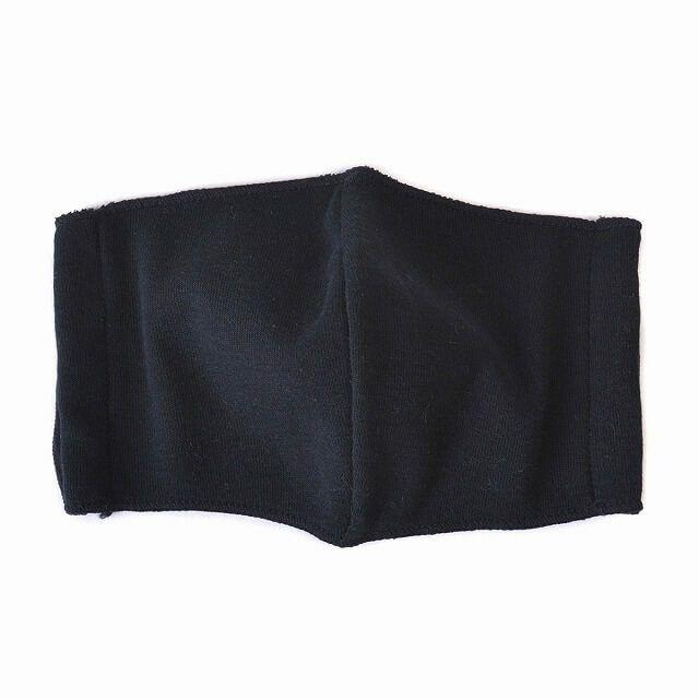 ブラックの天竺 オーガニックコットン マスク