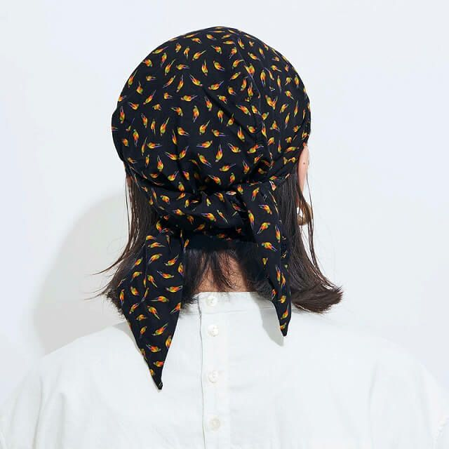 シャプロン ターバンキャップ (ラブバード)| レディース メンズ 夏 帽子 バンダナ 三角巾 大人 医療用帽子 おしゃれ 抗がん剤