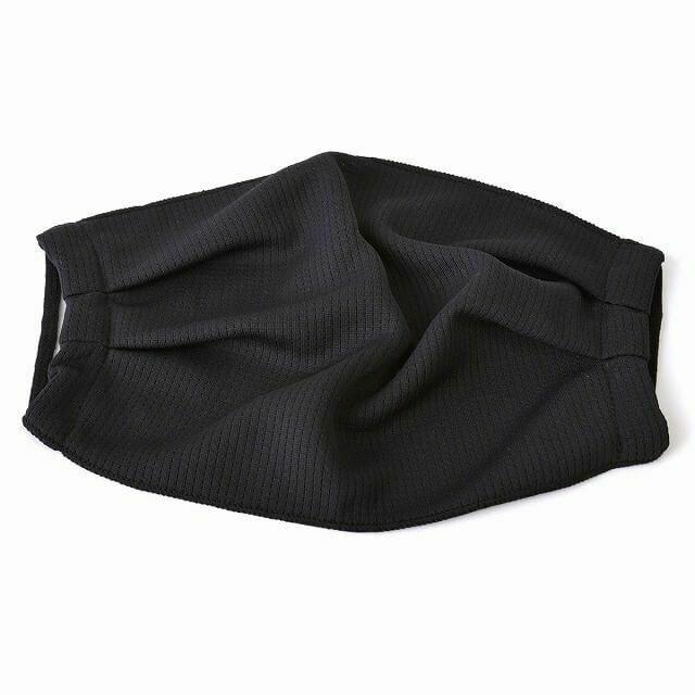 ブラックのホワイトの吸汗 速乾 UVカット マスク (2枚セット)| メンズ レディース 夏 日本製 洗える 布マスク 痛くない スポーツ 接触冷感 通気性 日焼け防止