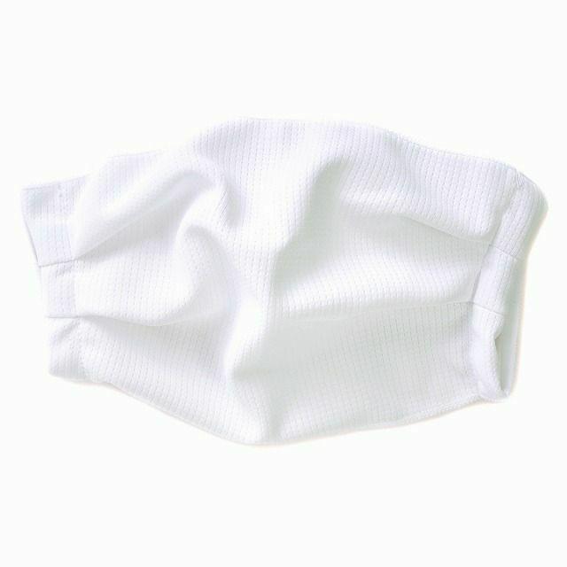 ホワイトのホワイトの吸汗 速乾 UVカット マスク (2枚セット)| メンズ レディース 夏 日本製 洗える 布マスク 痛くない スポーツ 接触冷感 通気性 日焼け防止