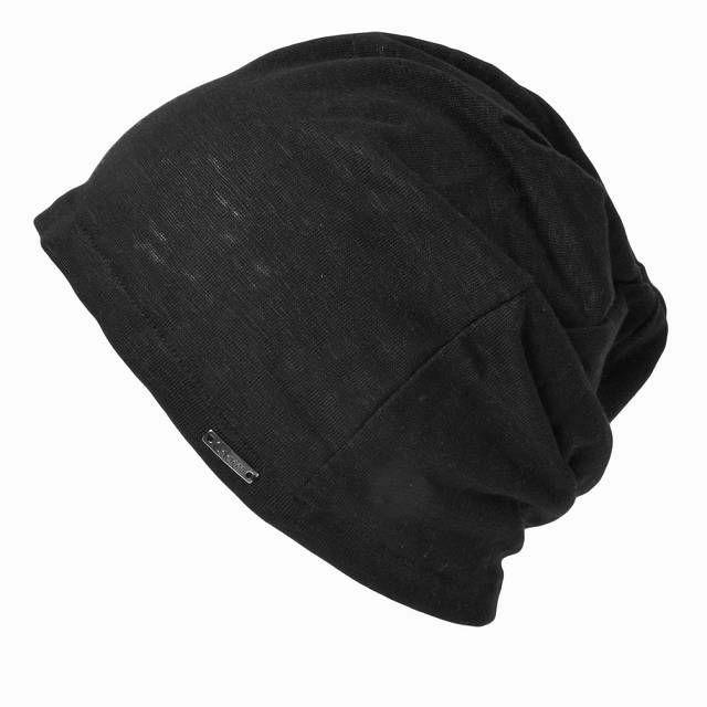 ブラックの【日本製】wind リネン ビック ワッチ   レディース 春夏 麻100% 帽子 サマーニット帽 室内帽子 ビーニー 夏の帽子 ニット帽 おしゃれ 涼しい