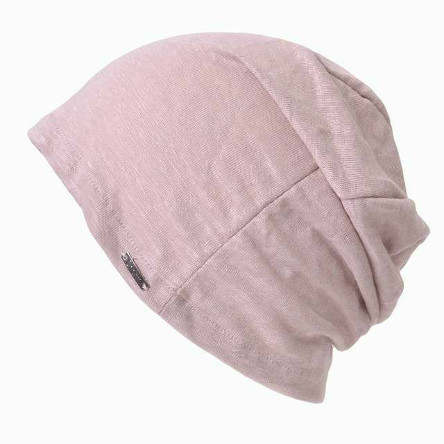 ピンクの【日本製】wind リネン ビック ワッチ   レディース 春夏 麻100% 帽子 サマーニット帽 室内帽子 ビーニー 夏の帽子 ニット帽 おしゃれ 涼しい