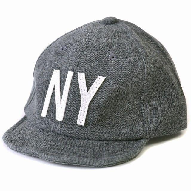 ブラックのキッズ :NY ロゴキャップ