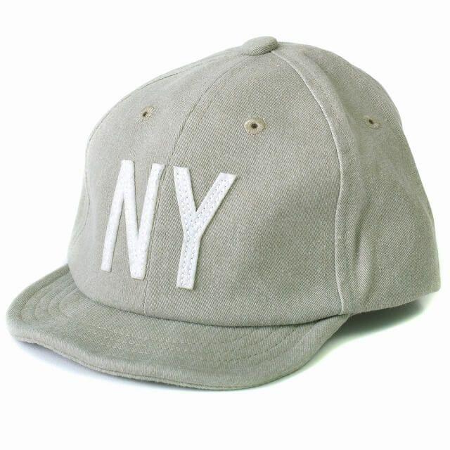 グレーのキッズ :NY ロゴキャップ