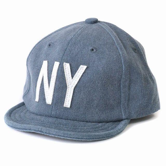 ネイビーのキッズ :NY ロゴキャップ