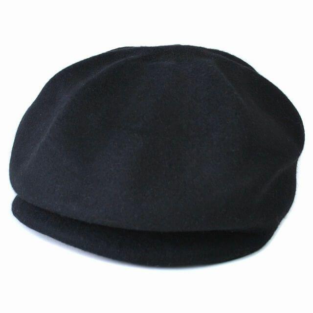 ブラックのどんぐり ウール キャスケット