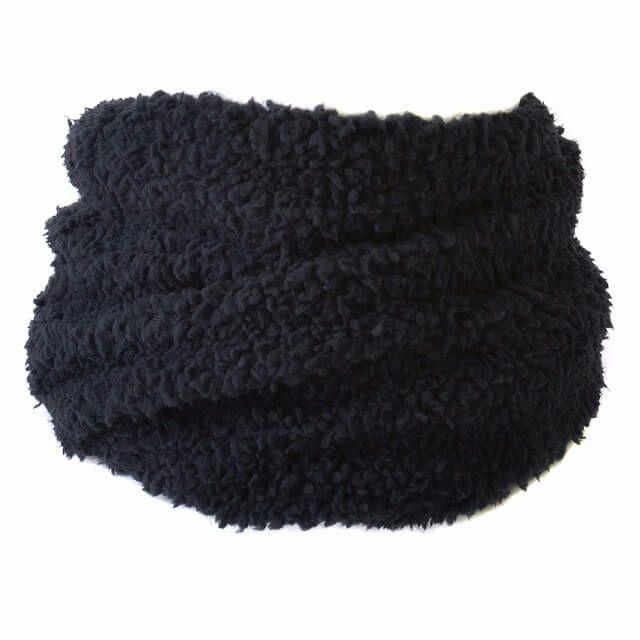 ブラックのボア トルネード ターバン ネックウォーマー