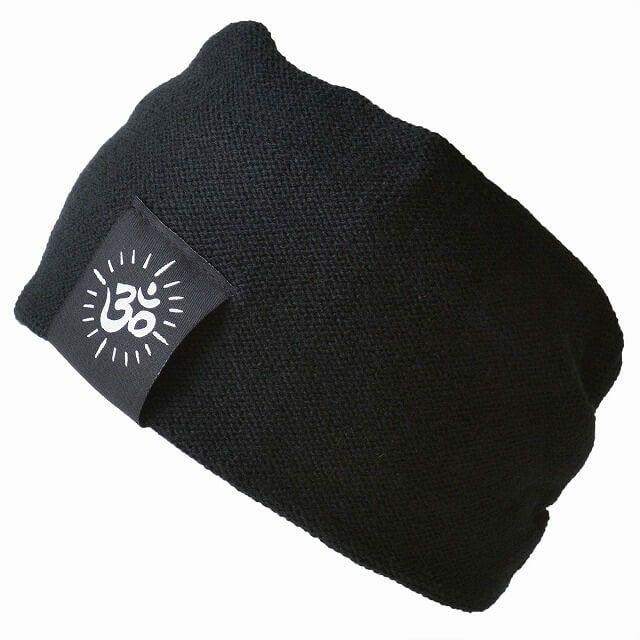 ブラックのオムデザインカラー ターバン ヘアバンド